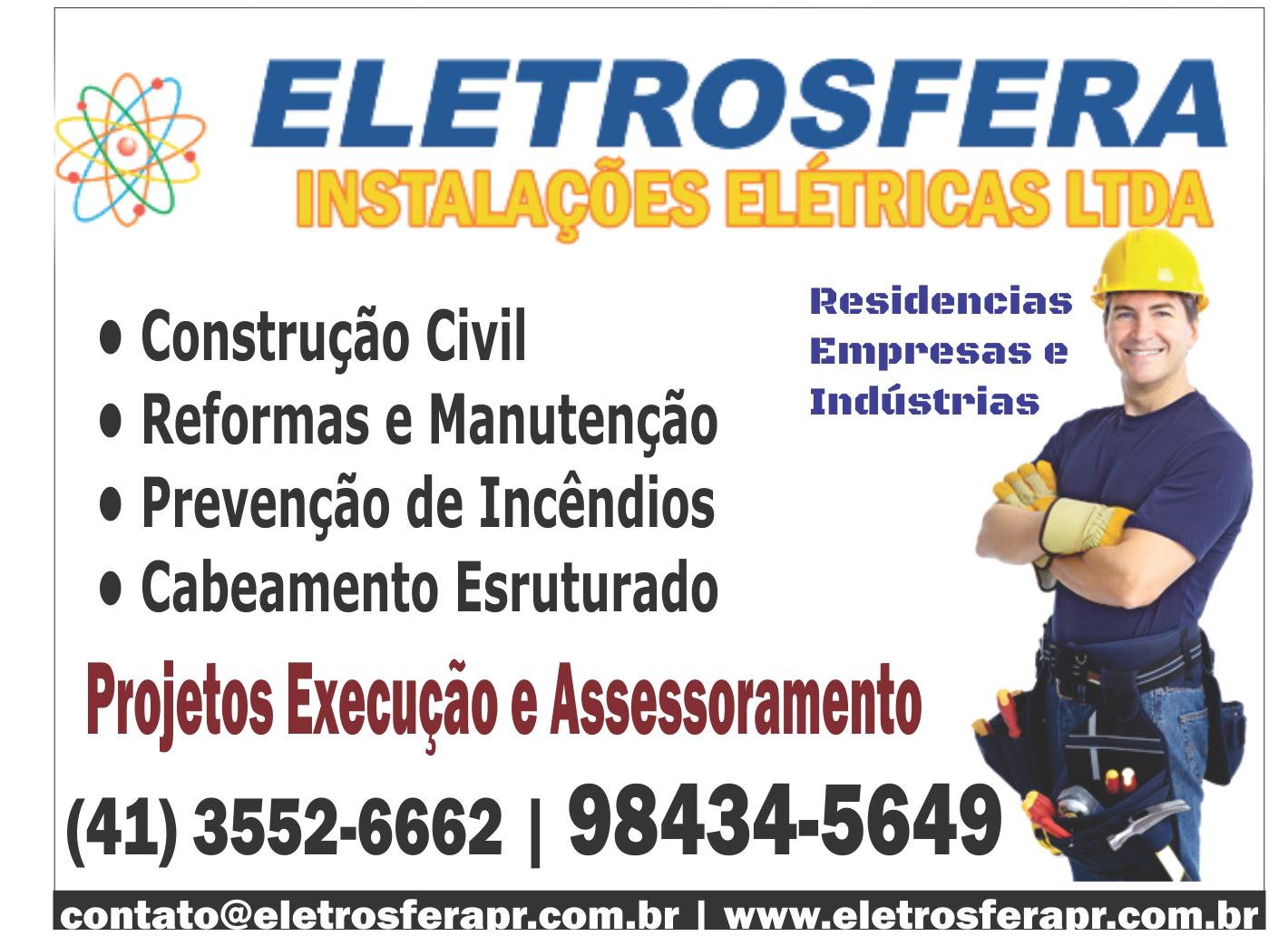 Eletrosfera Instalações Elétricas (41)3552-6662 / (41) 98434-5649