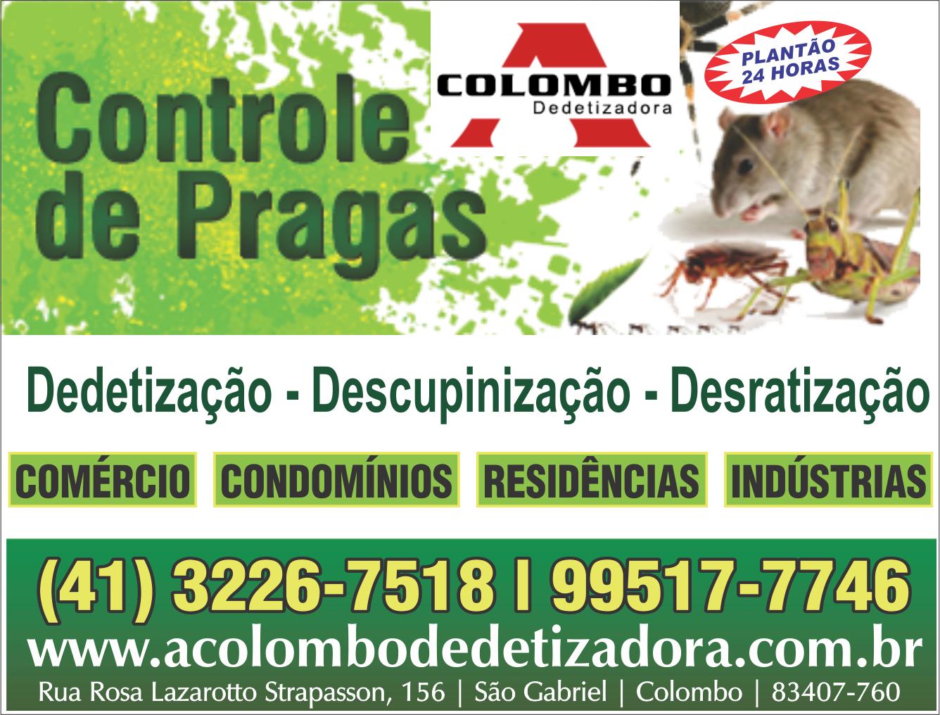 A Colombo      RUA ROSA LAZAROTTO STRAPASSON, 156, COLOMBO - PR  Fones: (41)3226-7518 / (41) 99517-7746