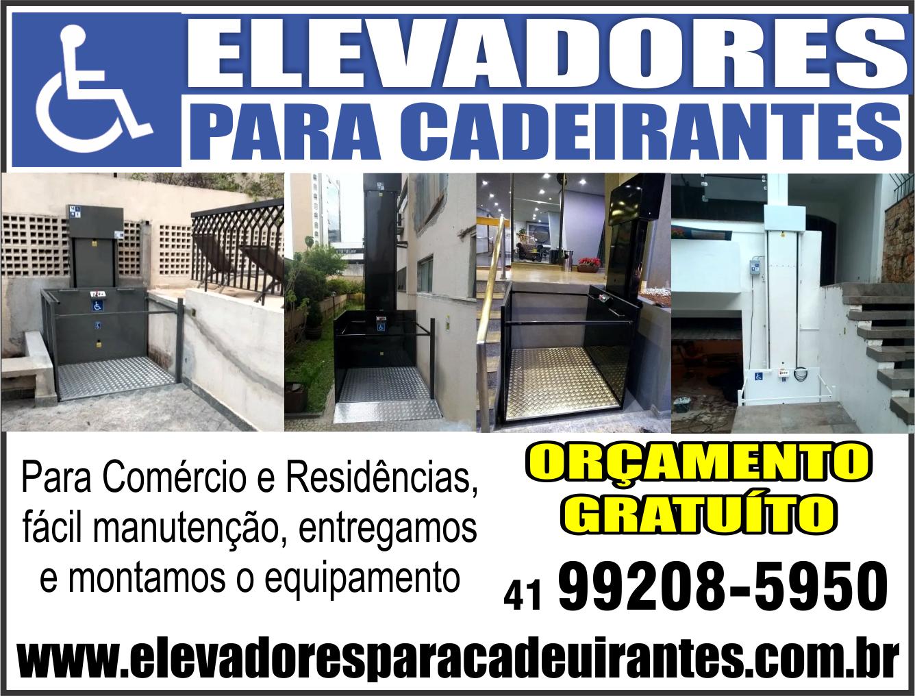 Elevadores para Cadeirantes      Fones: (41) 99208-5950 /