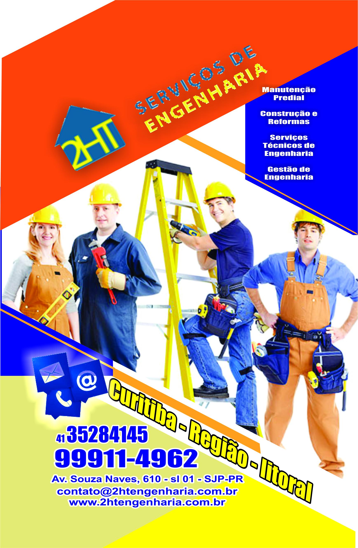 2HT Serviços de Engenharia      AVENIDA SENADOR SOUZA NAVES, 610, SÃO JOSÉ DOS PINHAIS - PR  Fones: (41)3528-4145 / (41) 99911-4962