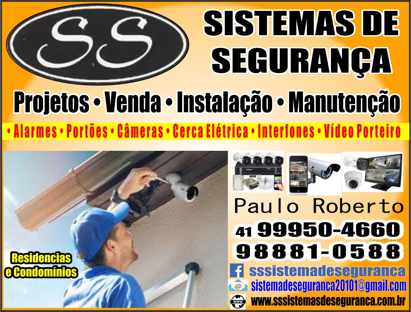 SS Sistemas de Segurança       RUA JOÃO ANTÔNIO BRAGA CORTES, 743, CURITIBA - PR  Fones: (41)99950-4660 / (41) 98881-0588